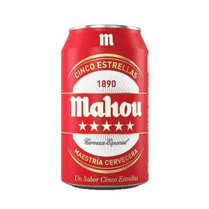 Lata Cerveza Mahou Cinco Estrellas